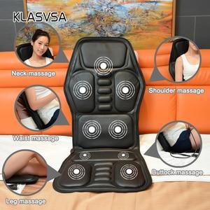 Image 2 - Klasvsa発熱ネックマッサージチェアバックシートトッパー車ホームオフィスマッサージ振動クッションバックネックリラクゼーション