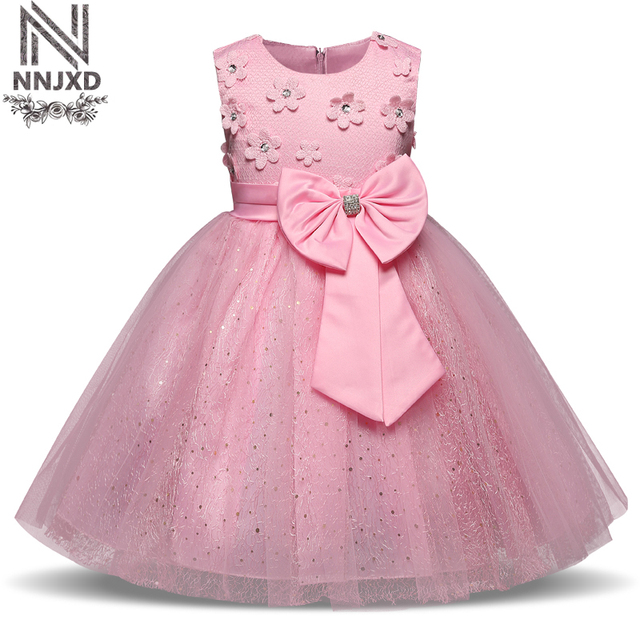 6c58caf9106 Little Girl Dress For School Ceremonial Robe Fille Dresses Formal Occasion  Clothing For Teenage Girl Bowknot