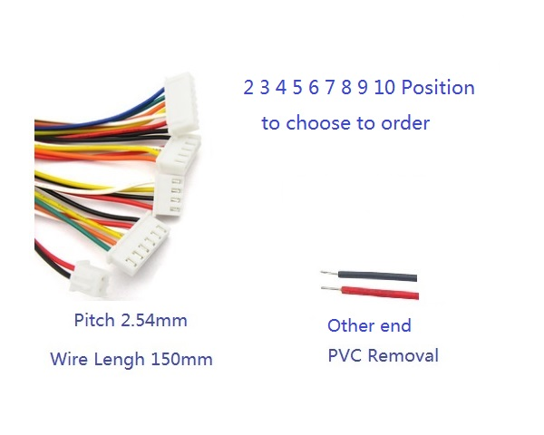 20 Pcs Wire Xh254 254 Mm Top Entry 2 3 4 5 6 7: Remove Wire From 6 Pin Harness At Gundyle.co