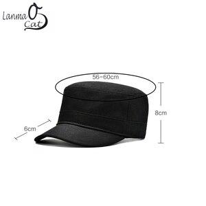 Image 4 - Chapéu do exército do vintage do algodão de lanmaocat chapéu do exército dos homens das mulheres personalizado chapéu superior liso boné de beisebol personalizado bonés do exército frete grátis