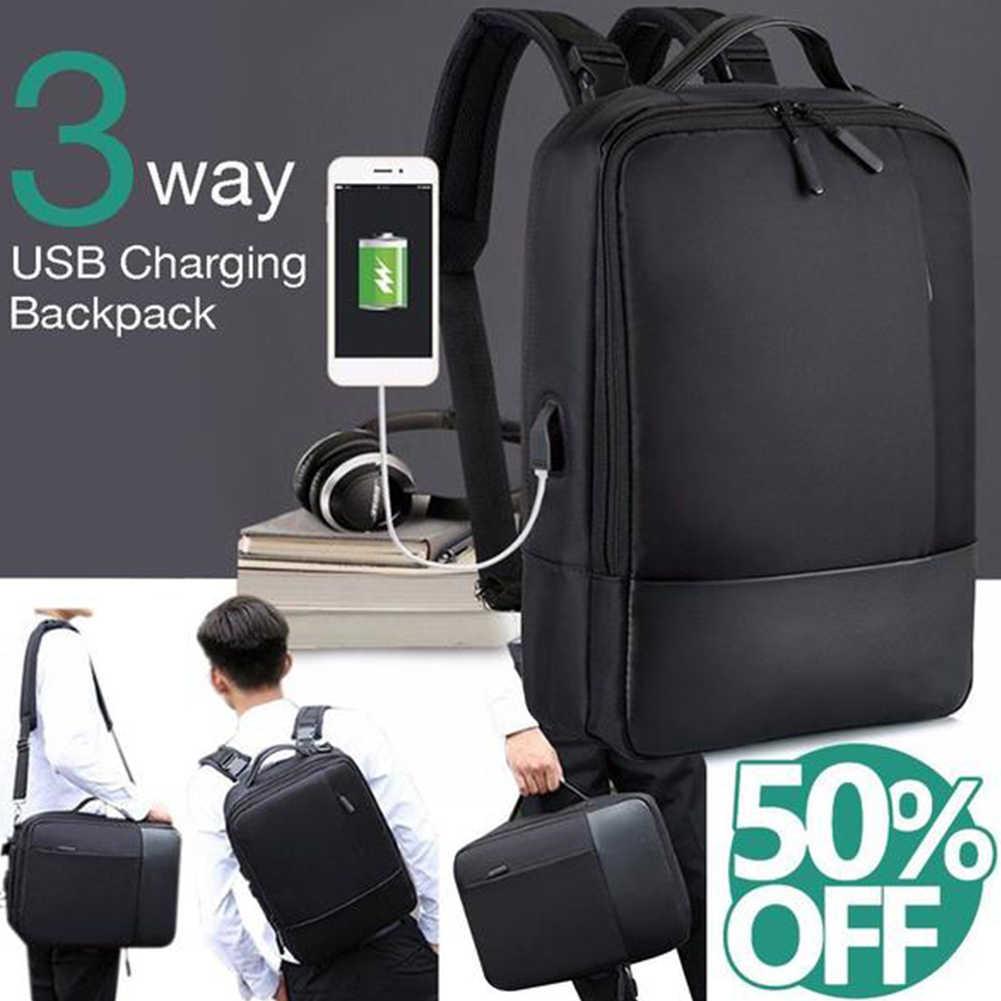 Для мужчин и женщин рюкзак для ноутбука работает Противоугонная молния нейлон путешествия мягкий студенческий с usb-портом повседневные аксессуары Tote водонепроницаемый