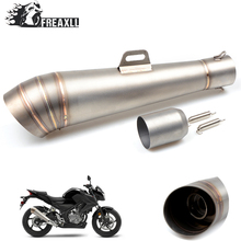 36MM-51MM Universal Motorcycle Abrasive exhaust escape With db killer Modified Scooter Exhaust Pipe Muffle For Honda YAMAHA