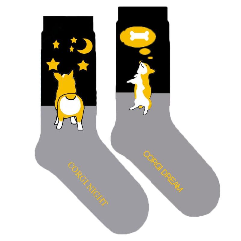 Socks Underwear & Sleepwears Starry Night Corgi Socks Women Cute Dog Cotton Socks Novelty Dog Lover Gift Idea Fun Puppy Present 20/50/100pairs Wholesale