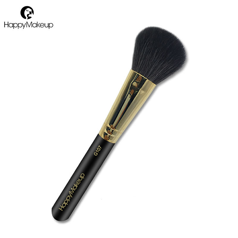 Happy Makeup Brush 1pcs Face Powder Blush Brush Natural Goat Hair Large Domed Bronzer Contour Cosmetic Brush Professional Brand