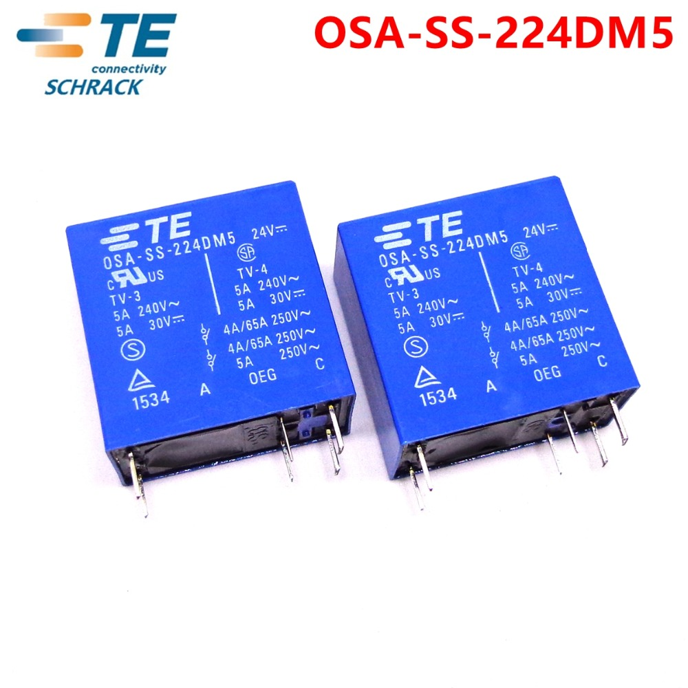 Image 2 - 10PCS TE TYCO Relay OSA SS 224DM5 24VDC relay Brand new and original-in Relays from Home Improvement