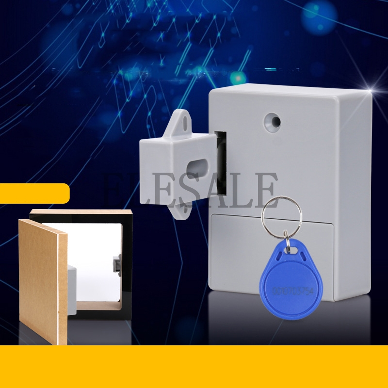 RFID Hidden Drawer Lock Furniture Desk Cabinet Locker Lock Safety Smart Home Door Cupboard Childproof Locks Drop shipping brass drawer lock kit 2 keys cabinet cupboard door home office desk catch new arrival high quality free shipping