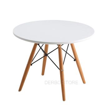 Stół dla dzieci Modern Classic Design loft stolik obiadowy dla dzieci MDF do zabawy dla dzieci stół ogrodowy biurko dla dzieci do nauki drewna nogi boczne stolik do herbaty tanie i dobre opinie YY-048W Montaż Nowoczesna i minimalistyczna ZUCZUG ROUND Inne WOOD China Dia 60*H47cm NONE
