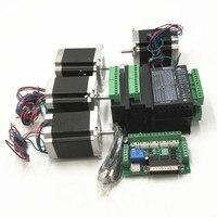 CNC Router Kit 3 Axis, 3 cái TB6600 4A stepper motor driver + Nema23 motor57HS5630A4 + 5 board interface axis + cung cấp điện