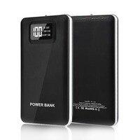 Wopow Güç banka 10000 mah Harici Yedekleme Pil Taşınabilir Telefon Şarj Çift USB Portu ile powerbank ile LCD Ekran