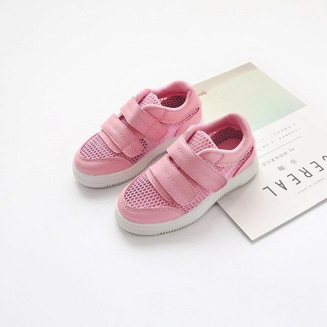 293cd878008 Enfants blanc chaussures pour printemps été respirant trous princesse rose  chaussures 2019 mode tendances enfants baskets