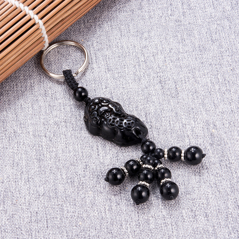 Sitaicery 2PCS Set Good Luck Key Chains Personalized Keychains For Men Boyfriend Gift Car Keys Accessories Key Rings Trinket in Key Chains from Jewelry Accessories
