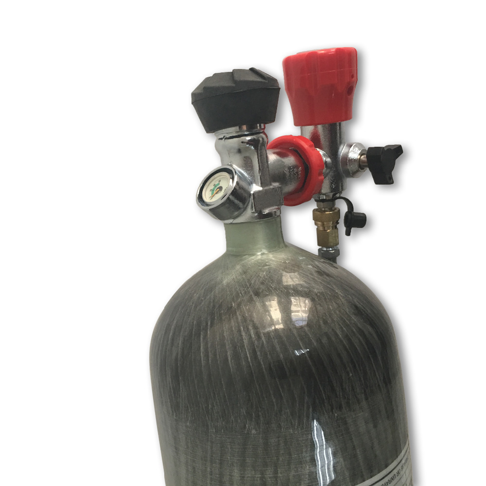 ACECARE 6.8L Breathing Apparatus Carbon Tank/mini Scuba Tank HP Compressed Air 4500PSI 3.9kg Composite Gas Cylinder AC168301