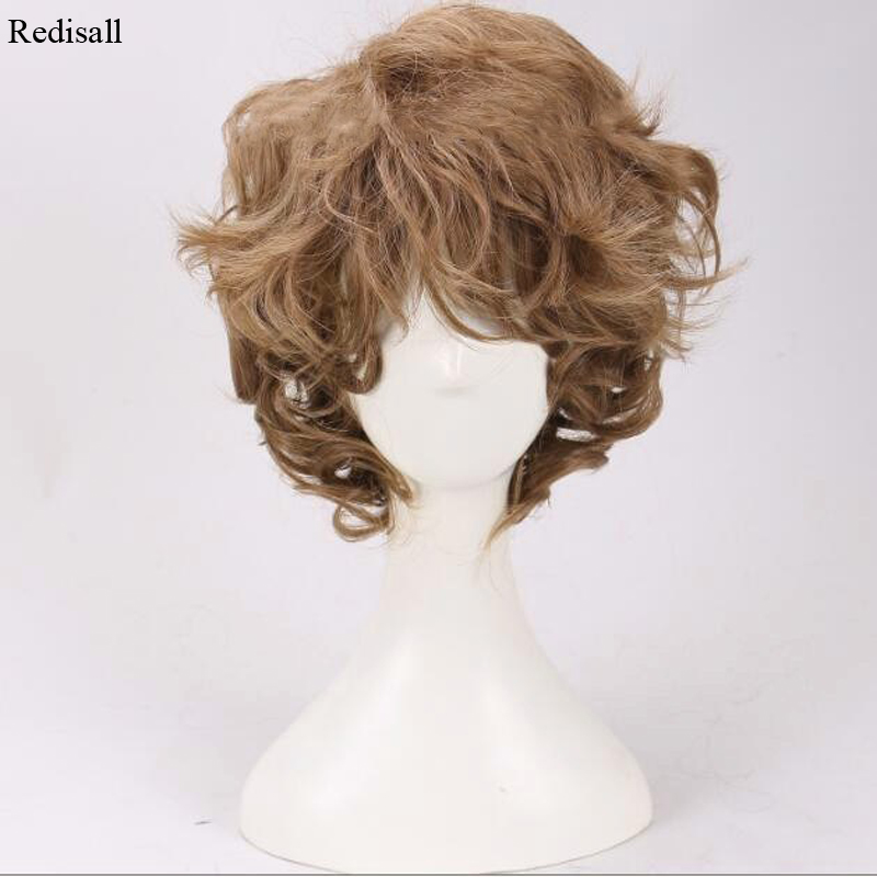 Halloween Synthetic Hair Cosplay The Lord Of The Rings Bilbo Baggins The Hobbit Short Curly Cosplay Wig Brown Hair For Adult