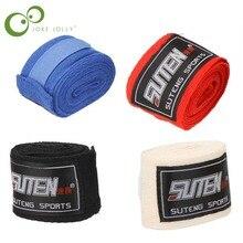 1 шт. боксерские перчатки хлопок спортивный ремень боксерский бандаж Санда Муай Тай ММА тхэквондо перчатки для рук обертывания защита для мужчин