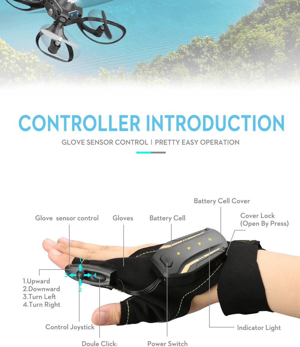 Valcano Gloves Control Mini Drone 15
