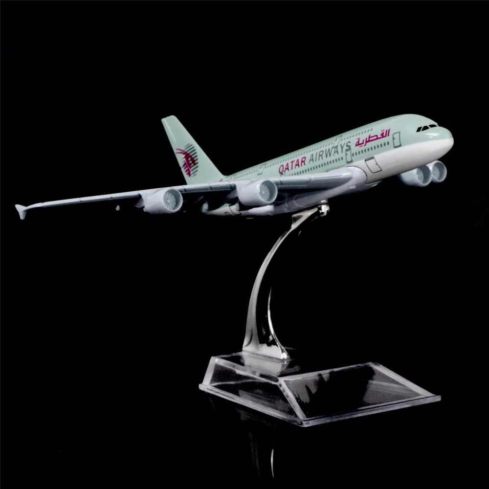 1 400 16 Cm Qatar Airways A380 Logam Pesawat Model Kantor Dekorasi Mainan Ide Hadiah Diecasts Toy Kendaraan Aliexpress