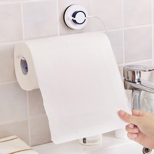 Vacuum suction cups Sanitary Toilet Paper Holder Tissue Box Kitchen Bathroom Storage Rack Roll Paper Tissue Holder Towel Rack