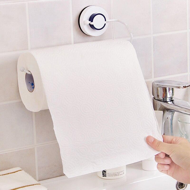 Ventosas de vacío sanitario soporte de papel higiénico caja de pañuelos de cocina estante de almacenamiento de baño rollo de papel soporte de pañuelos toallero