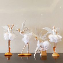 European resin Ballet angel creative Figurines & Miniatures lovely girl's gift handmade Furnishing Articles home wedding decor