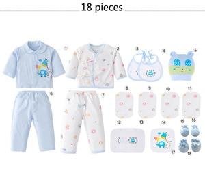Image 5 - Ropa de bebé de 18 piezas para niño, ropa para recién nacido, niño, primavera y otoño, atuendo para niños recién nacidos de algodón con oso feliz