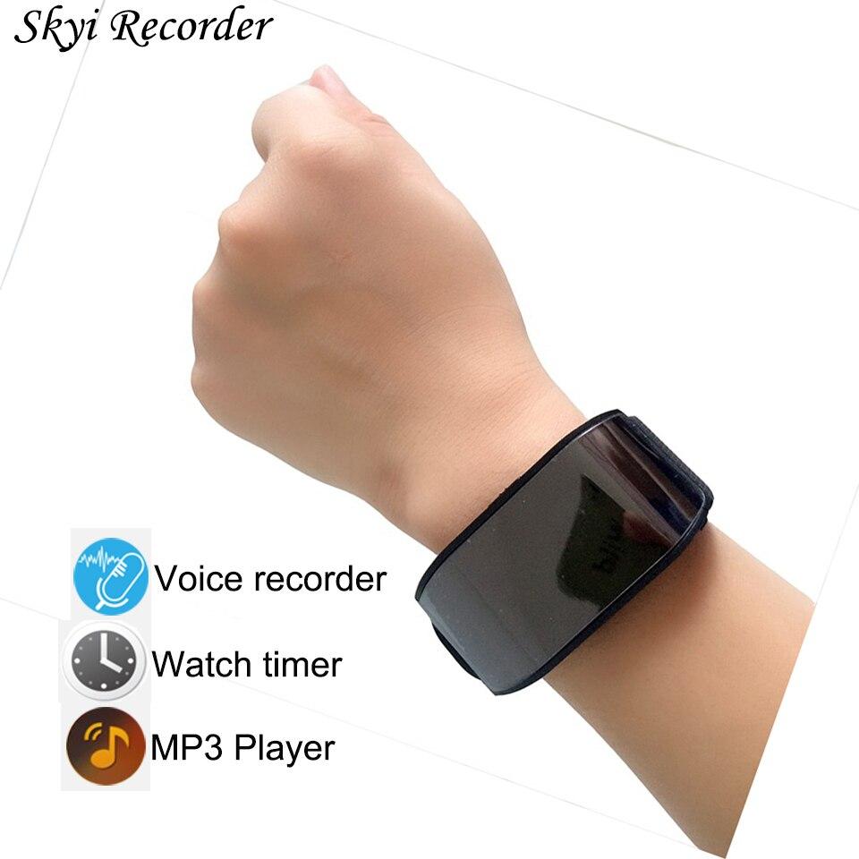 Professional Watch Digital Voice Recorder 8GB Sound Dictaphone Mini Wrist band Hidden Voice Recorder MP3 Player Audio Recorder