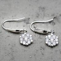 Dangle Earring 925 Sterling Silver Wedding Earrings For Women With Stones Earings Fashion Jewelry Wholesale