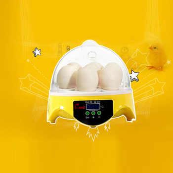 7 ไข่ Digital Incubator อัตโนมัติไก่เป็ดไก่ไข่ฟักไข่เครื่องอุณหภูมิควบคุม Holdhouse ฟักไข่เครื่อง