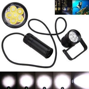 Image 2 - New LED Diving Flashlight Aluminum Alloy Underwater 150m Waterproof Highlight 10000lm 6x L2 Tactical Torch Light