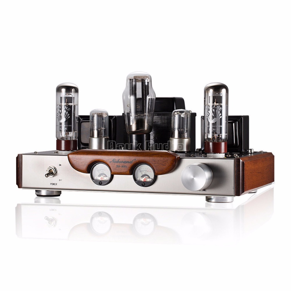 2018 Latest Nobsound EL34 Valve Tube Amplifier Stereo Hi-Fi Single-ended Class A Power Amp High-end Brushed Metal Panel Amp music hall pure handmade hi fi psvane 300b tube amplifier audio stereo dual channel single ended amp 8w 2 finished product
