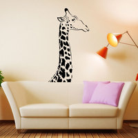 Giraffe Wall Decal Art Decor Sticker Cartoon Vinyl Wall Decal For Kids Room Nursery