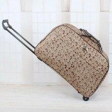 Haute Qualité 2016 Rolling Luggage Trolley Sacs Femmes Voyage Sac À Main En Métal Chariot Femelle et mâle sac de Voyage de Grande Capacité valise