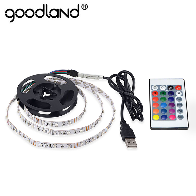 USB LED Strip Light DC5V SMD3528 RGB LED Strip Flexibel Diodband Neon Band 50CM 1M 2M 3M 4M 5M TV Bakgrundsbelysning