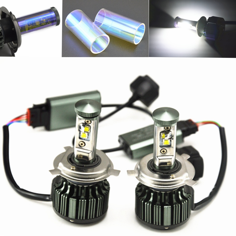 H4 phare LED voitures feux de croisement 80 W Kit antibrouillard lampe à LED xénon voiture-style H13 H7 ampoule LED pour voitures blanc pur H1 H3 H11