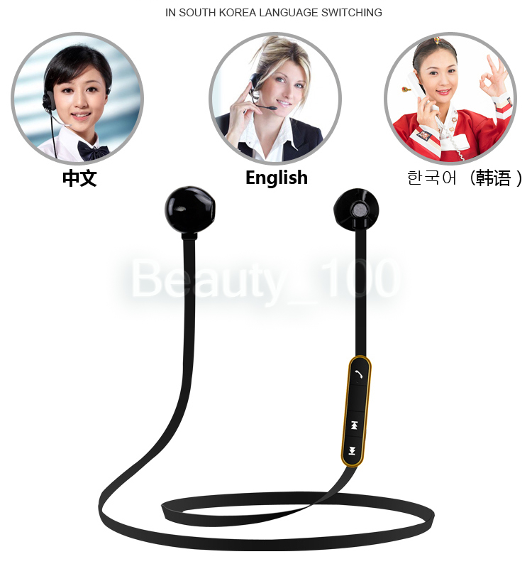Running Earphone Stereo Ear Wireless Bluetooth Headset Voice Control Handsfree Sport Earphones with Mic for Iphone Samsung high quality 2016 universal wireless bluetooth headset handsfree earphone for iphone samsung jun22