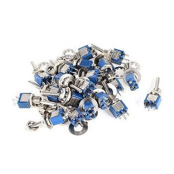 20 piezas AC 125 V 3A 3 Pin SPDT en/2 Posición Mini interruptor de palanca SMTS-102