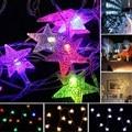 10 M 70Led Árbol De Navidad Estrella de la Nieve Bombillas Led String de Hadas de Luz de la noche de Boda Del Partido de Navidad al aire libre Jardín Guirnalda bar decoraciones