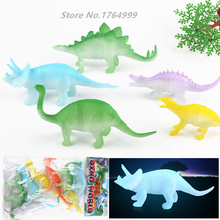 8pcs/set Big size Glow in the Dark Toys Night Light Noctilucent Dinosaur Figure Gift Toy for Children Kids Toys & Hobbies