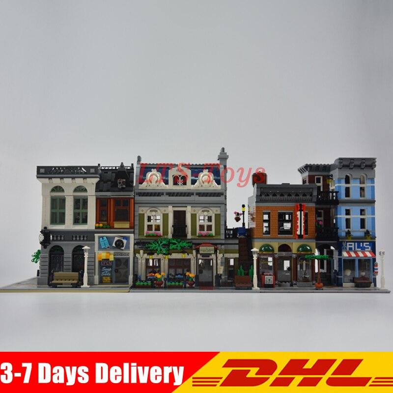 Modular MOC City Town Street LEPIN 15001 Bank 15010 Parisian Restaurant 15011 Detectives Office Model Building Kit Blocks 10246