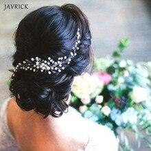 JAVRICK Bride Pearl Hair Comb Wedding Headwear Handmade Pearl Bridal Women Jewelry Hair Jewelry Accessories Handmade Flower Head цена и фото