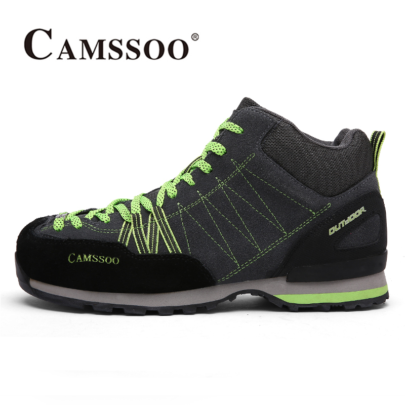 2017 Camssoo Plus Velvet Outdoor Hiking Shoes For Men Light Weight Breathable Climbing Camping Sports Shoes Free Shipping 5022