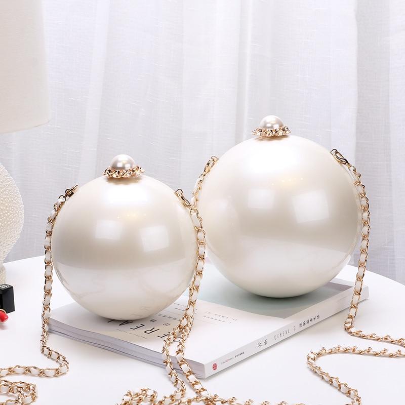 Portable Pearl Makeup Hard Box Clutch Bag Sling Purses And Handbags Summer Shoulder Bag Women Ladies Hand Bag Evening Clutch Bag