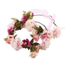 Mom and Baby Flower Headwear Newborn Headband Flower Crown Mother Kids Hair Accessories