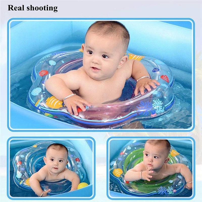 Anel de natação do bebê assento da
