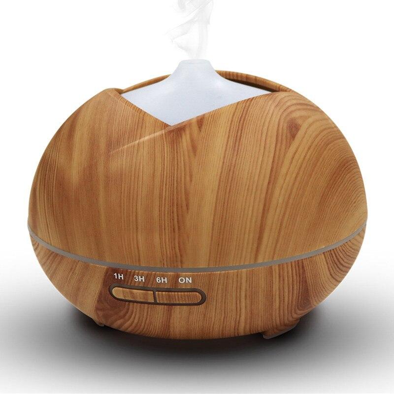 все цены на Aroma Diffuser Wood Grain Cool Mist Humidifier 450ml Ultrasonic Aroma Essential Oil Diffuser for Home Office Study Yoga Spa Room онлайн