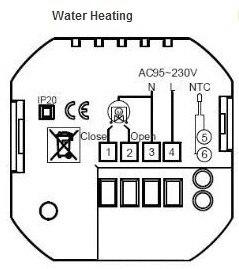 Сенсорный экран яркие программируемый Modbus термостат для нагрева воды (с Modbus RS485 Функция)