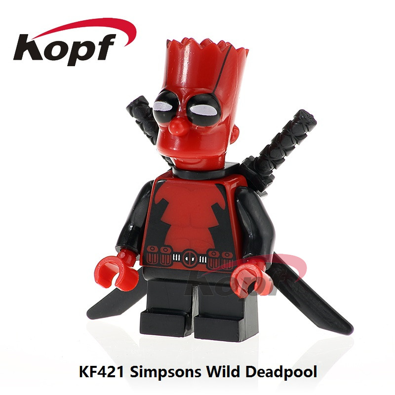 KF421 Single Sale Super Heroes Building Blocks Simpson Wild Deadpool Antman Model Action Figures Bricks For Children Gift Toys 12pcs set children kids toys gift mini figures toys little pet animal cat dog lps action figures