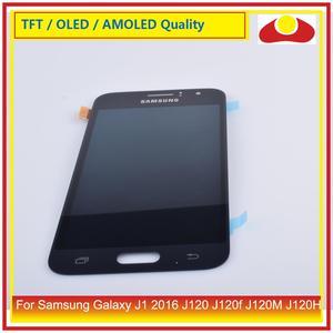 """Image 5 - Original 4.5 """"para samsung galaxy j1 2016 j120 j120f j120m j120h display lcd com tela de toque digitador assembléia painel completo"""