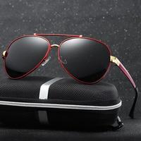 Steampunk Goggles Men Carter Lunette Sunglasses hot rays polaroid Male Oversized Sun Glasses Luxury Brand Driver Eyewear Driving