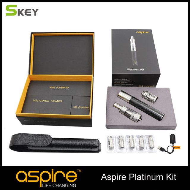 New arrival Aspire Platinum Kit with 2 ML Atlantis Atomizer and 2000 mah CF Sub ohm Battery including 5 pcs replacement BVC coil