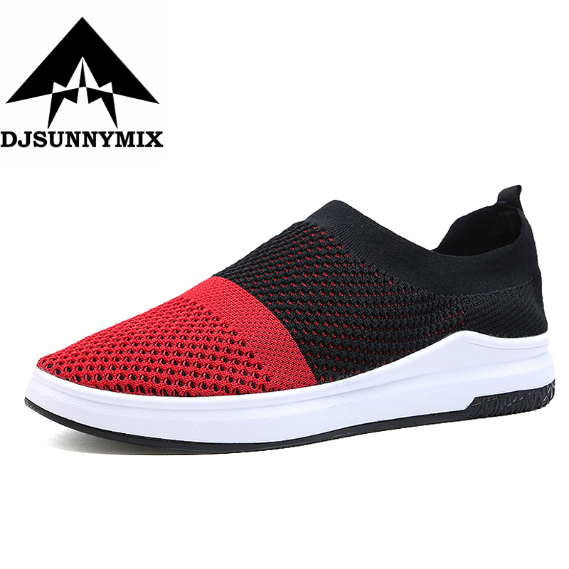 DJSUNNYMIX New Unisex Athletic Men Sneakers Summer Breathable Mesh Sport Shoes For men Outdoor Light soft Running Shoes 35-44